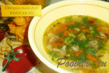 Суп из куриных сердечек Шаг 8 (картинка)