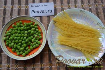 Фрикадельки с зеленым горошком и спагетти Шаг 4 (картинка)