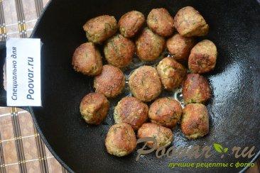 Фрикадельки с зеленым горошком и спагетти Шаг 6 (картинка)