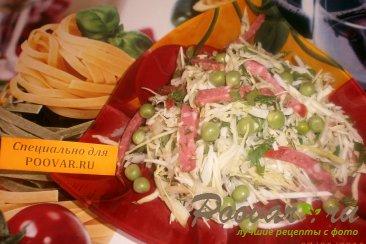 Салат из капусты с зелёным горошком Шаг 7 (картинка)