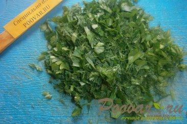 Салат из капусты с зелёным горошком Шаг 5 (картинка)