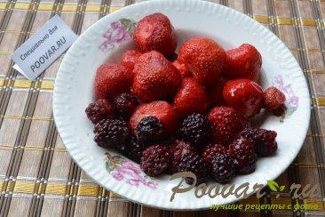 Булочки из слоеного теста с ягодой Шаг 1 (картинка)