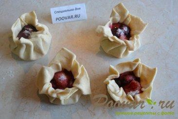 Булочки из слоеного теста с ягодой Шаг 7 (картинка)