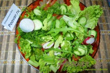Салат с рукколой и овощами Шаг 4 (картинка)