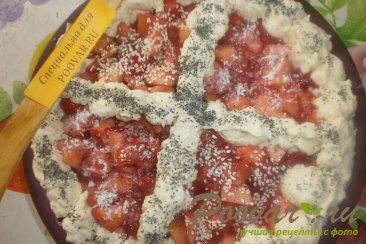 Пирог с клубникой и яблоками Шаг 13 (картинка)