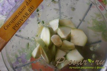 Холодный суп из огурцов и кабачков Шаг 4 (картинка)