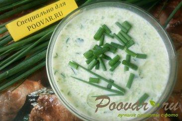 Холодный суп из огурцов и кабачков Изображение