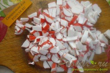 салаты из крабовых палочек рецепты с фото пошагово в
