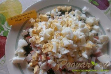 Салат из морской капусты и крабовых палочек Шаг 3 (картинка)