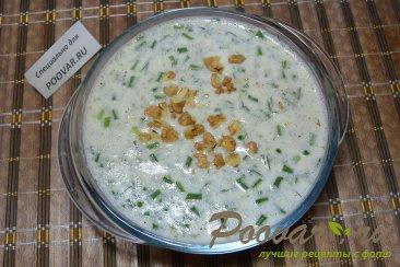 Холодный суп из огурцов на кефире