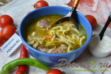 Суп зама из курицы и домашней лапши Шаг 6 (картинка)