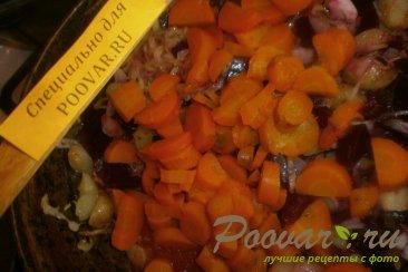 Овощное рагу с капустой, свеклой, морковью и картофелем Шаг 7 (картинка)