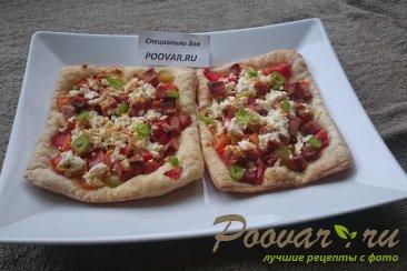 Пицца из слоеного теста с колбасой Шаг 9 (картинка)