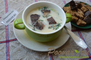 Суп с плавленым сыром Изображение