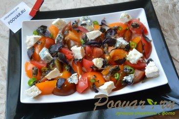 Салат из помидор сыра и базилика Шаг 7 (картинка)