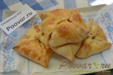Пирожки из слоеного теста с абрикосами Шаг 6 (картинка)