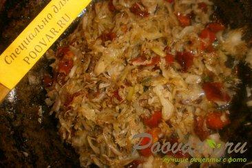 Лаваш с капустой и вялеными помидорами Шаг 7 (картинка)