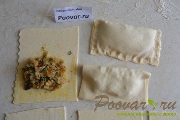 Слоеные пирожки с картофелем и грибами Шаг 8 (картинка)