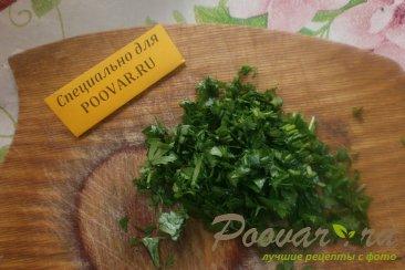 Оладьи с зелёным луком Шаг 7 (картинка)