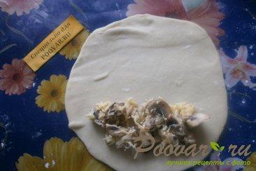 Чебуреки с грибами и сыром Шаг 14 (картинка)