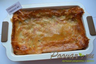 Мясной пирог из вытяжного теста в духовке Шаг 10 (картинка)