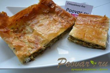 Мясной пирог из вытяжного теста в духовке Шаг 12 (картинка)