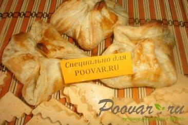 Конвертики из слоёного теста с сыром Изображение