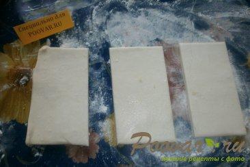 Конвертики из слоёного теста с сыром Шаг 4 (картинка)