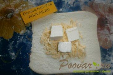 Конвертики из слоёного теста с сыром Шаг 6 (картинка)
