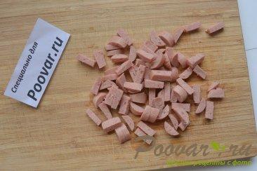Овсяные оладьи с колбасой Шаг 4 (картинка)