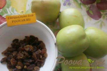 Шарлотка с яблоками и изюмом Шаг 1 (картинка)
