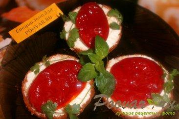 Бутерброды с вялеными помидорами Шаг 7 (картинка)