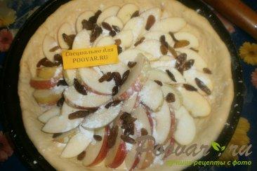 Пирог с яблоками из дрожжевого теста Шаг 9 (картинка)