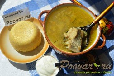 Суп с рыбой и картофелем Изображение