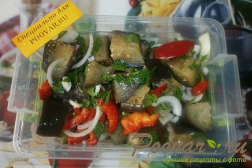 Салат из баклажанов на зиму Шаг 10 (картинка)