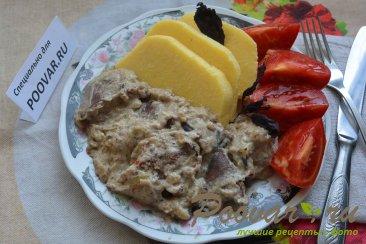 Печень индейки с луком и сметаной Шаг 8 (картинка)