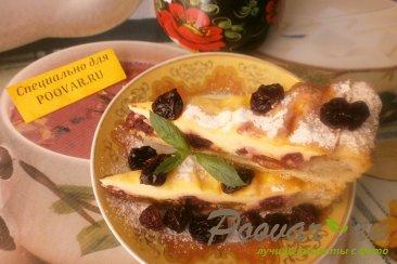Творожной пирог с вяленой вишней и изюмом Шаг 20 (картинка)