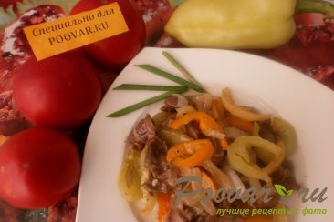 Куриные желудки с болгарским перцем и луком Шаг 10 (картинка)