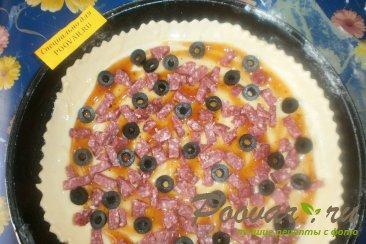 Пицца с маслинами и вялеными помидорами Шаг 10 (картинка)