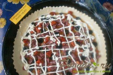 Пицца с маслинами и вялеными помидорами Шаг 13 (картинка)