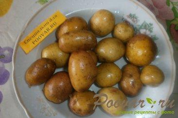 Свиные рёбрышки с алычой, грибами в духовке Шаг 7 (картинка)