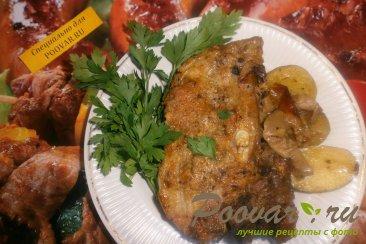 Свиные рёбрышки с алычой, грибами в духовке Шаг 14 (картинка)