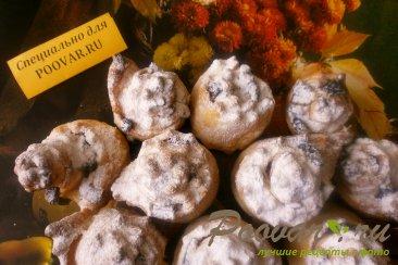 Цветочки с пастилой из слоёного теста Изображение