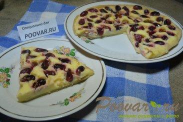 Творожной пирог с виноградом в микроволновке Изображение
