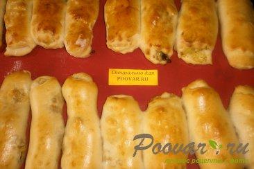 Пирожки - трубочки с грибами и картофелем Шаг 15 (картинка)