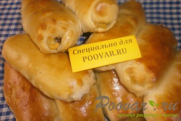 Пирожки - трубочки с грибами и картофелем Шаг 16 (картинка)