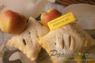 Слоечки из слоёного теста с яблоками Изображение