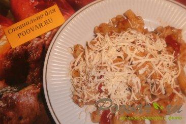 Паста с томатно - чесночным соусом и сыром Изображение