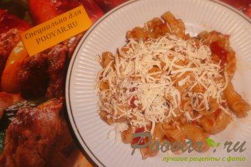Паста с томатно - чесночным соусом и сыром Шаг 6 (картинка)