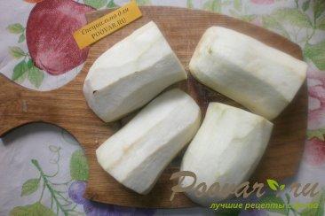 Салат из баклажанов с маринованным огурцом и картофелем Шаг 2 (картинка)